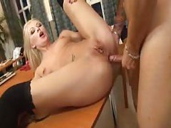 On a table moaning for hardcore anal sex tubes