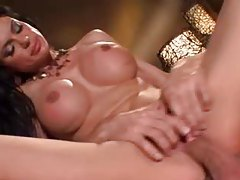 Pornstar with big sexy tits sits on a cock tubes