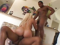 Black cock threesome with Gina Lynn tubes