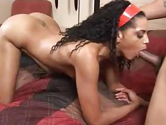 Skinny girl with a nice bottom has interracial sex tubes