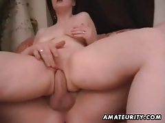 Chubby amateur wife homemade fucking action tubes