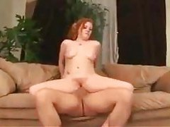 Teen hottie with shaved pussy likes older man cock tubes