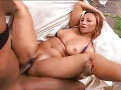 Outdoor sex in the tropics with a black chick tubes