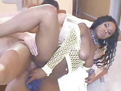 Black girl whips out a dildo for a DP tubes