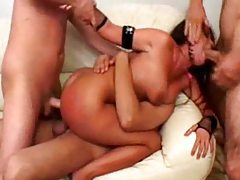 Rough gangbang ends with a great bukkake tubes