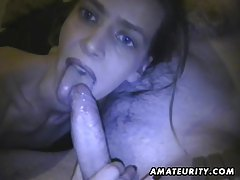 Amateur girlfriend homemade blowjob with cum in mouth tubes