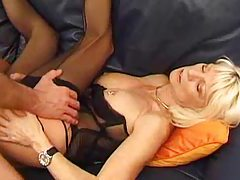 Heavily pierced milf in lingerie screwed tubes