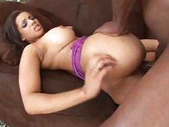 Curvy black girl with big tits fucked missionary style tubes