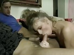 Retro porn threesome and double penetration tubes