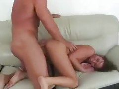 Naomi Russell face fuck and hard ass pounding tubes