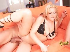 Blonde pornstar eats a big cock and has hardcore sex tubes
