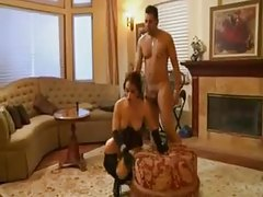 Gloves girl wants him in her tight ass tubes