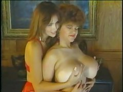Retro redheads with big natural boobs fondle titties tubes