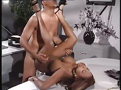 Office fuck with a blazing hot black chick tubes