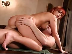 Fun hot redhead chokes on big cock and gets fucked tubes