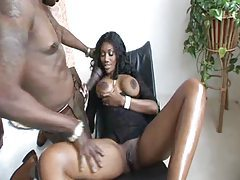 Black girl delighted at his big sexy cock tubes