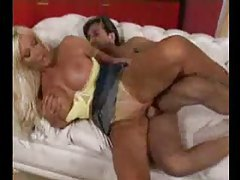 Heavy blonde milf in panties fucked in her vagina tubes