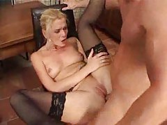 Horny slim milf with a tight asshole nailed tubes