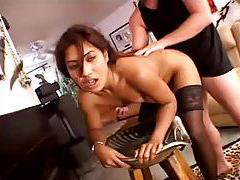 Creampie in her Latina pussy from his big cock tubes