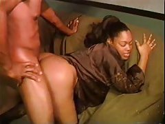 Black guy wields his cock hard in the retro clip tubes