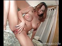 He shoots a creampie inside his busty GF tubes