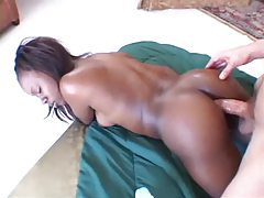 Lubing up her black ass and sliding in slowly tubes