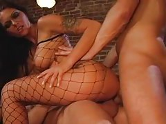 Hammering a hot and glamorous chick in fishnets tubes