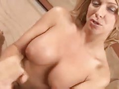 Big perky tits girl gives a hot handjob tubes
