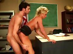 Teacher TJ Hart fucked on her desk tubes