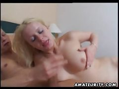 Amateur blonde girlfriend homemade blowjob and fuck with facial cumshot tubes