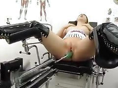 Slut in thigh high boots toy fucked tubes