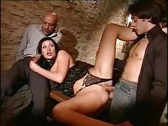 Glamorous Euro chick fucked in the basement tubes