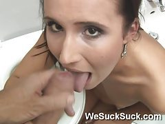 GF Nerin Blows Me In Bathroom tubes