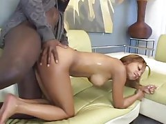Mocha slut fucked in the shaved pussy tubes