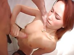 Asian amateur blowjob and fuck in car tubes