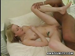 Amateur girlfriend homemade interracial action with black cock and cumshot tubes