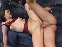 Foot blowjob and a fuck in the cunt tubes