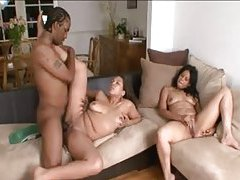 Curvy black gals and the BBC get it on tubes