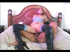 Fucking in latex stockings and knee high boots tubes