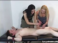 Clothed and abused by two clothed girls tubes