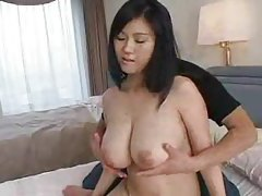 He fondles her really big natural Japanese tits tubes