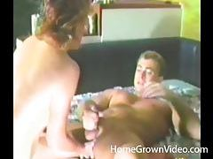 She blows him and toy his asshole tubes