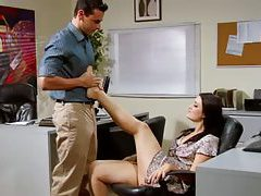 Sexy office footjob and blowjob tubes