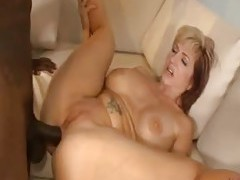 Girl with red and blonde hair fucked by BBC tubes