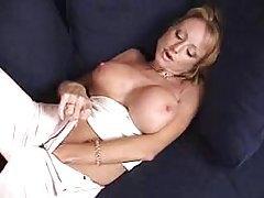 Milf in panties has big fake titties to model tubes