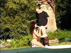 They hang out by the pool and fuck hard tubes