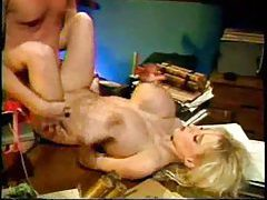 Hairy pussy French chick fucked in her box tubes