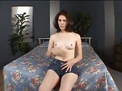 Lollipop girl strips and shows her titties tubes