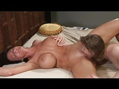 Deauxma squirts like crazy during lesbian sex tubes