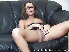 Glasses girl masturbation instruction and humiliation tubes